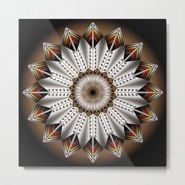 Feather Design Metal Print