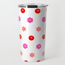 Flowers Pattern Travel Mug