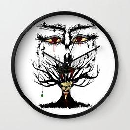spooky tree Wall Clock