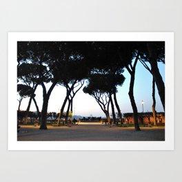 The Orange Garden - Looking over the Vatican Art Print