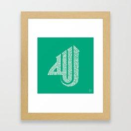 II EmeraldGreen 'Allah'  Framed Art Print