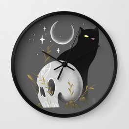 At night all cats are black Wall Clock