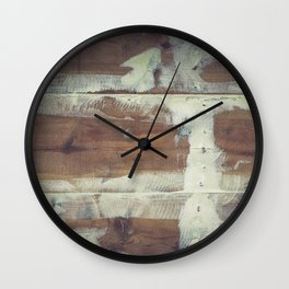 Repaired wooden shipboard Wall Clock
