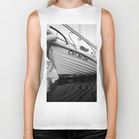 boat Biker Tanks featuring boat by habish