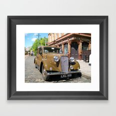 Vintage car and English Pub Framed Art Print