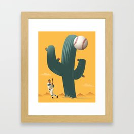 Cactus League Framed Art Print