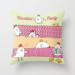 Cocottes Party Throw Pillow