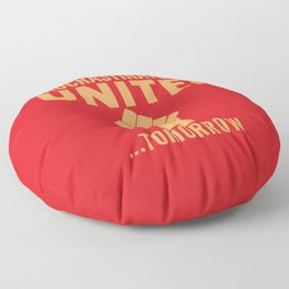 Procrastinators Unite Tomorrow (Red) Floor Pillow
