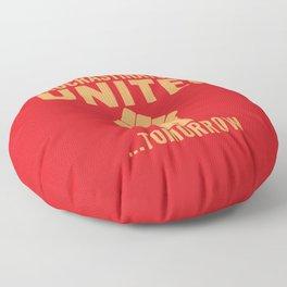 Procrastinators Unite Tomorrow (Red) Floor Pillow