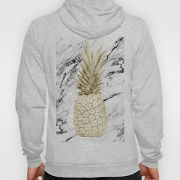 Gold Pineapple on Marble Hoody
