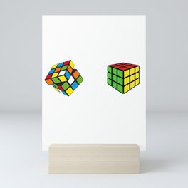 How To Solve Puzzle Cube - Funny Cubing Mini Art Print