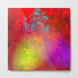 Abstract Of Colors Metal Print