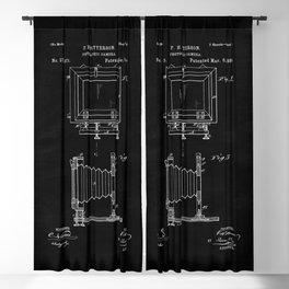 Vintage Camera Blueprint Sheet Two Blackout Curtain