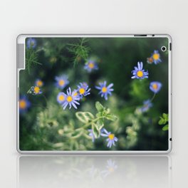 Blue and Yellow Flowers Laptop & iPad Skin