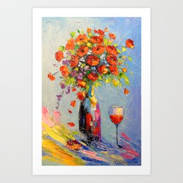 A bouquet of flowers for the holiday Art Print