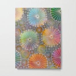 Abstract Floral Circles 4 Metal Print