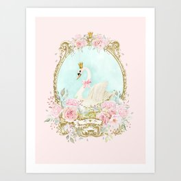 The shabby Swan Art Print