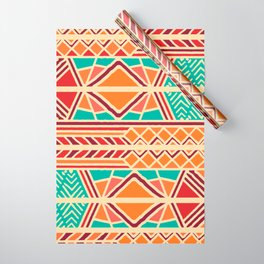Tribal ethnic geometric pattern 027 Wrapping Paper
