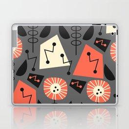Mid-century modern flowers Laptop & iPad Skin