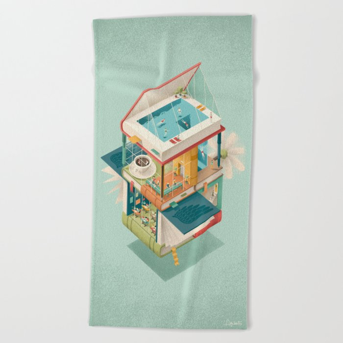Creative house Beach Towel