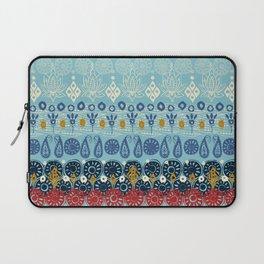 lotus block blue Laptop Sleeve