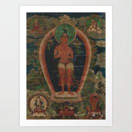 Bodhisattva Padmapani 18th Century Classical Tibetan Buddhist Art Art Print
