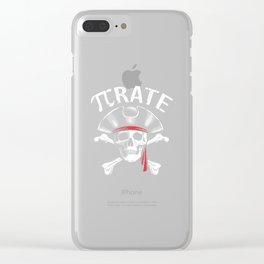 Pirate Pi Day Pun Science T-Shirt March 14 3.19 Clear iPhone Case