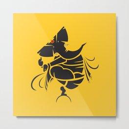 Lord Ganesha Mool Mantra Metal Print