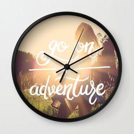 Go on an adventure Wall Clock