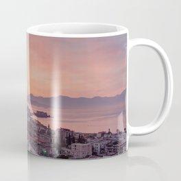 Napoli, landscape with volcano Vesuvio and sea Coffee Mug