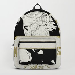 San Francisco - Vintage Map and Location Backpack