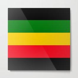 Rastafarian Colors Metal Print