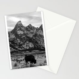 Bison and the Tetons Stationery Cards