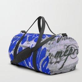 Dark Blue Daisy Duffle Bag