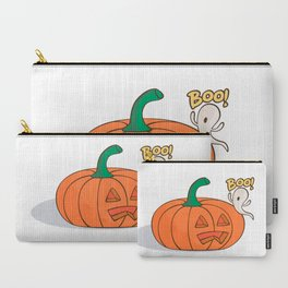 Scared Pumpkin Carry-All Pouch