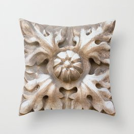 carved stone Throw Pillow