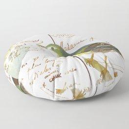 French bird Floor Pillow