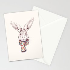 Bunny and scarf Stationery Cards
