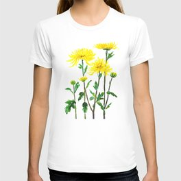 yellow chrysanthemum T-shirt