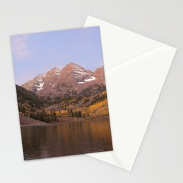 Sunrise at Maroon Bells Stationery Cards