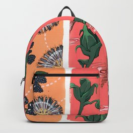 Cool Hues on Warm Background Backpack