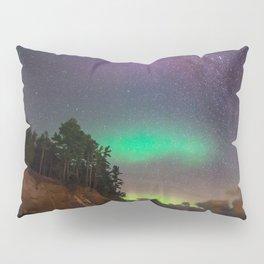 Hidden Beach Milky Way and Northern Lights Pillow Sham