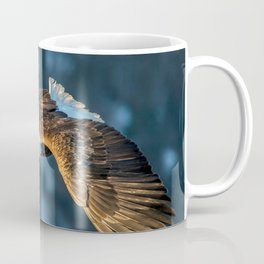 Marvelous Gracious American Bald Head Eagle Majestic Flying Gliding Through Air Close Up Ultra HD Coffee Mug