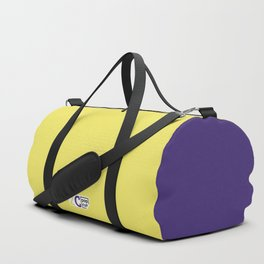 2C - yellow and violet Duffle Bag