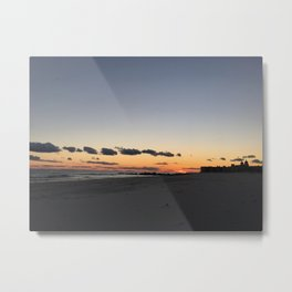 Long Beach Long Island Sunset Metal Print