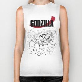 Godzilla B/W Biker Tank
