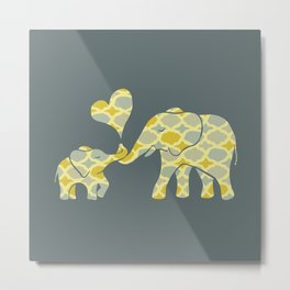 Elephant Hugs Metal Print