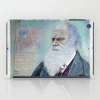 darwin iPad Cases featuring Charles Darwin by Michael Cu Fua