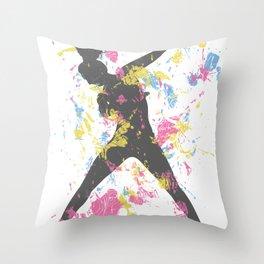 Hip Hop Dancer Throw Pillow