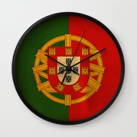 portugal Wall Clocks featuring Portugal by NicoWriter